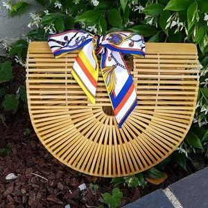 Handbags - Bamboo handbag ark crescent half moon. New bag